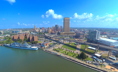 Upstate Visual Property Services, Real Estate Drone Photography, Canalside Buffalo, NY